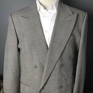 Giorgio Armani Collezioni Blazer plaid grey 39r